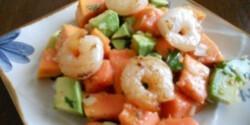 Papajás-avokádós saláta