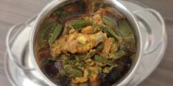 Bhindi chicken