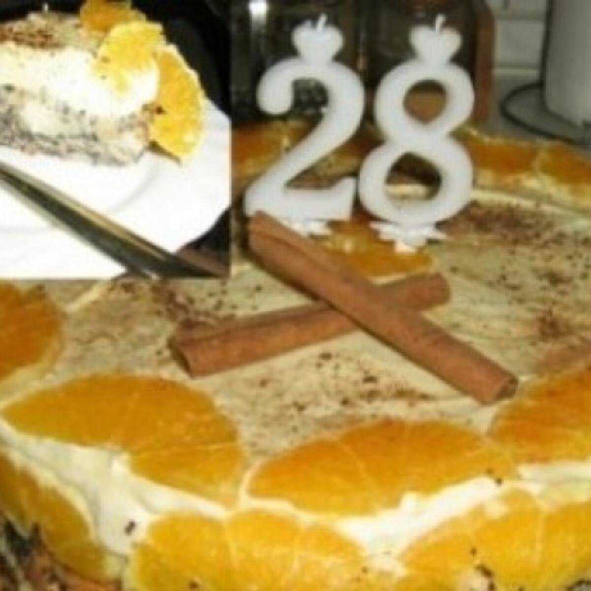 Mákosguba torta