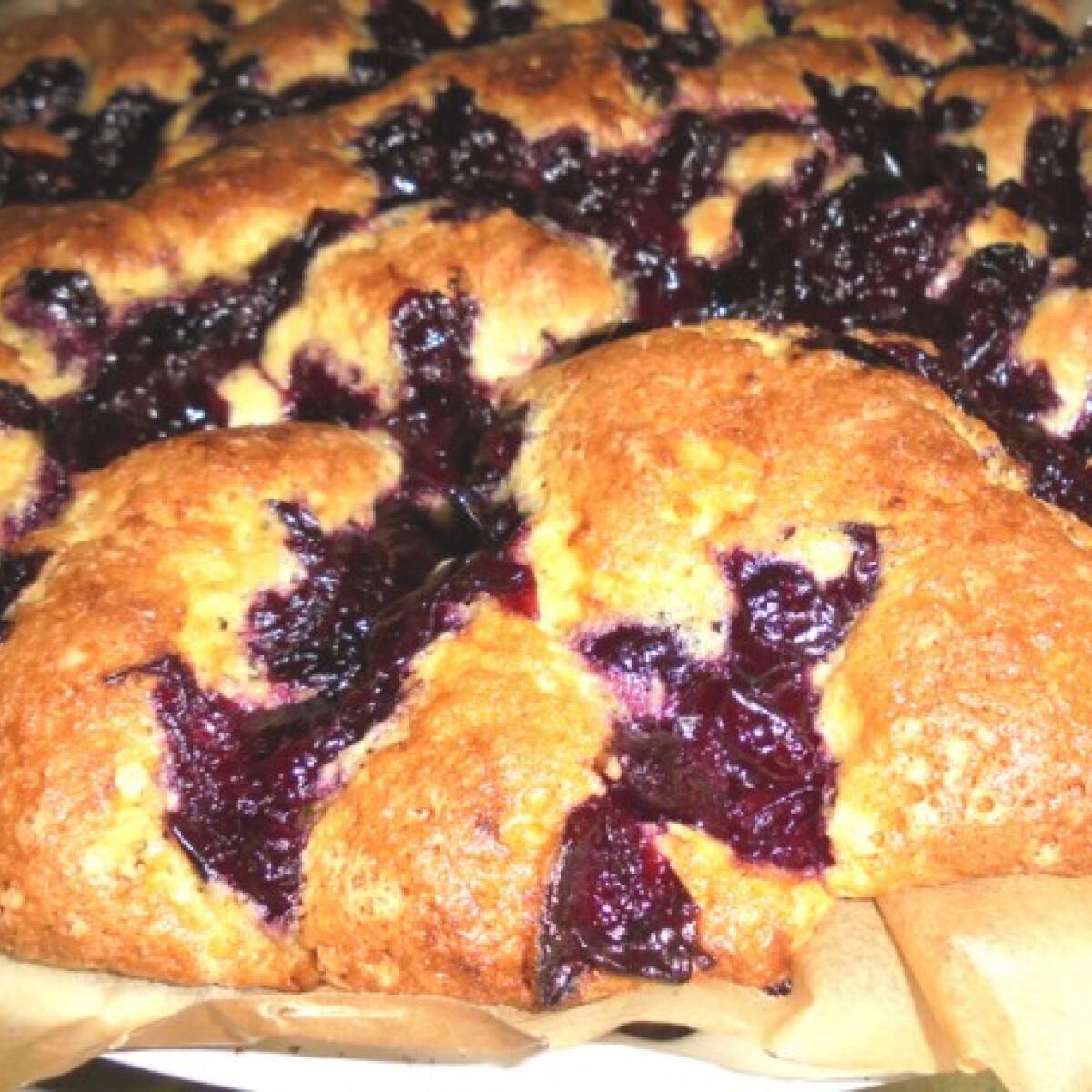Ezen a képen: Meggyes süti Dina konyhájából