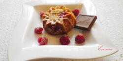 Joghurtos-málnás muffin