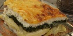 Spenótos-halas lusta rakott krumpli