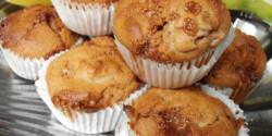 Karamellás-banános teljes kiőrlésű muffin