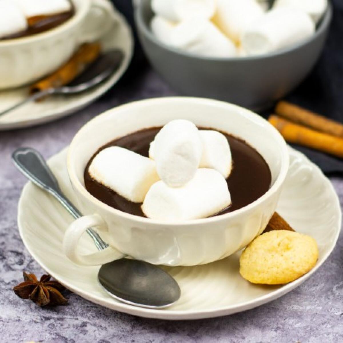 Ezen a képen: Karácsonyváró fűszeres forró csoki