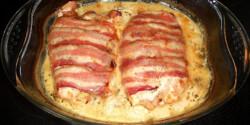 Csirketekercs baconben