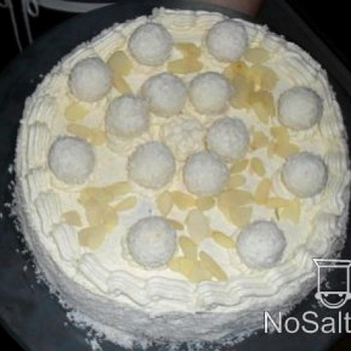 Ezen a képen: Raffaello torta kókusztejjel