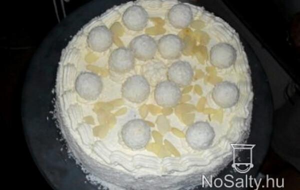 Raffaello torta kókusztejjel