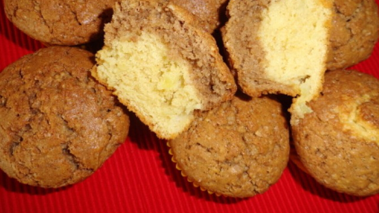Kétszínű almás muffin