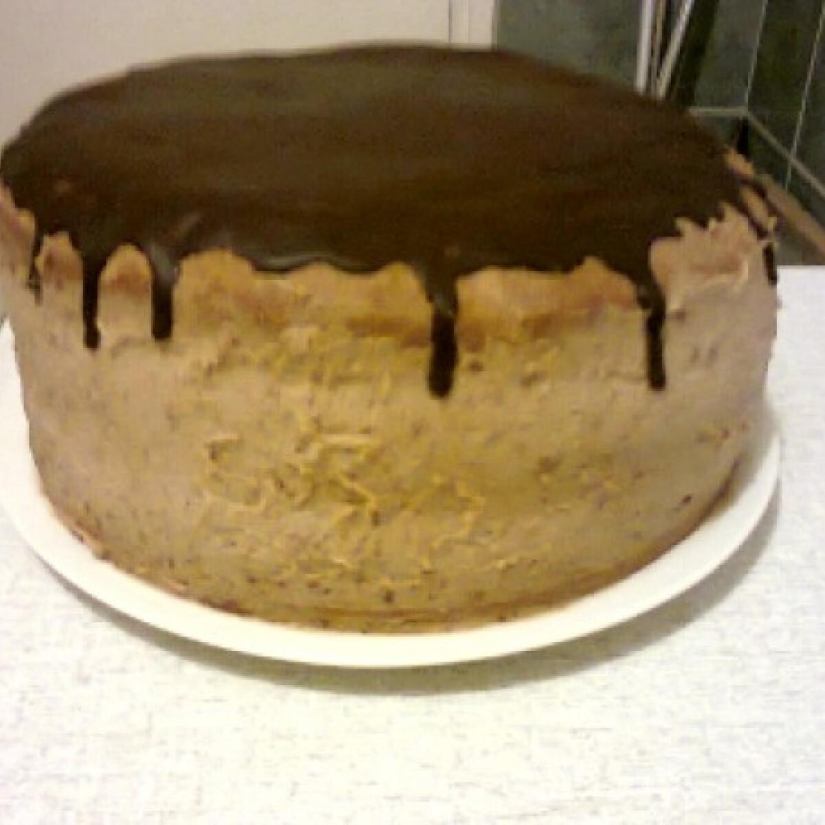 Ezen a képen: Pudingos-tejfölös csokitorta