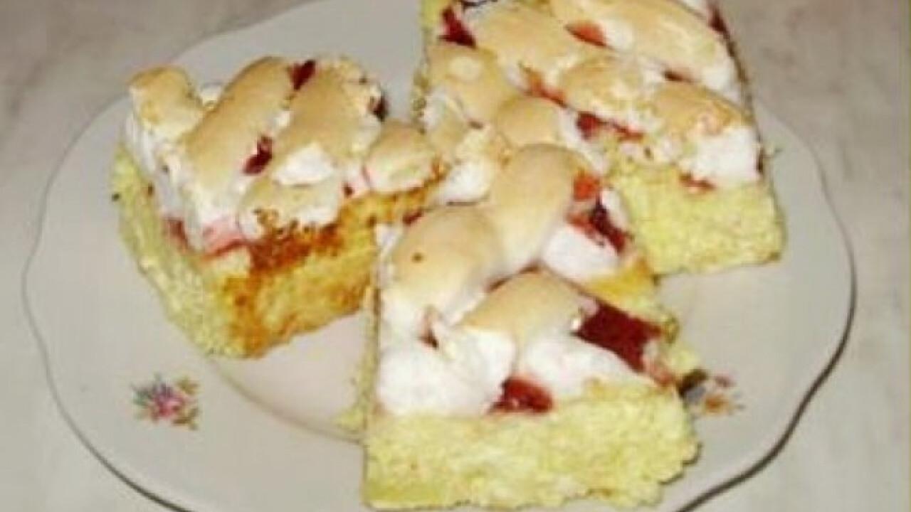 Tojáshabos túrós süti