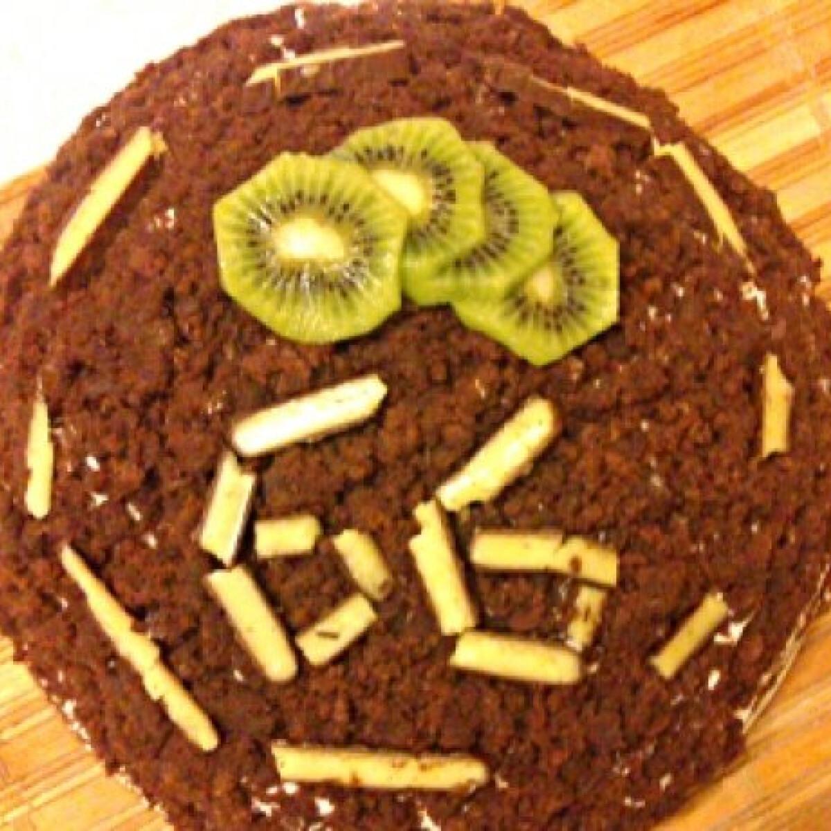 Ezen a képen: Kivis vakondtúrás torta