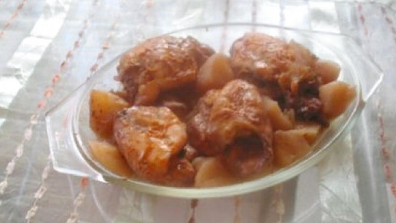 Csirke almával párban sütve