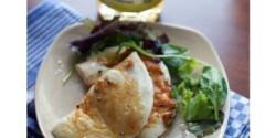 Grillezett rózsaborsos gomolya kevert salátával