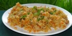 Színes rizses egyveleg háromféle hússal