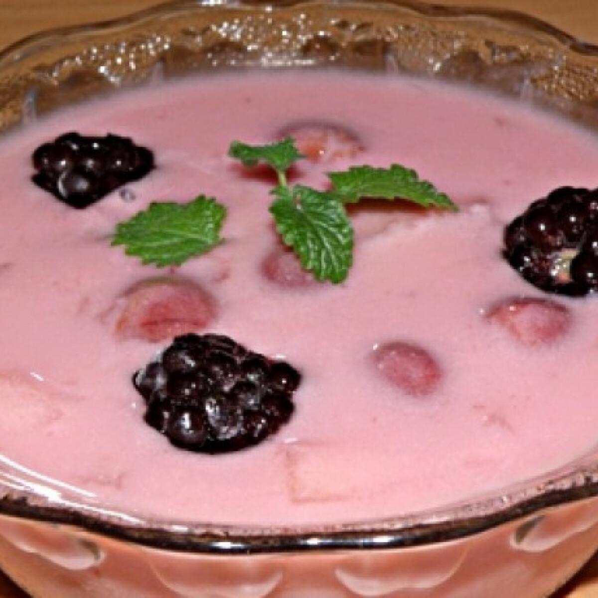 Ezen a képen: Gyümölcsleves dijuka konyhájából