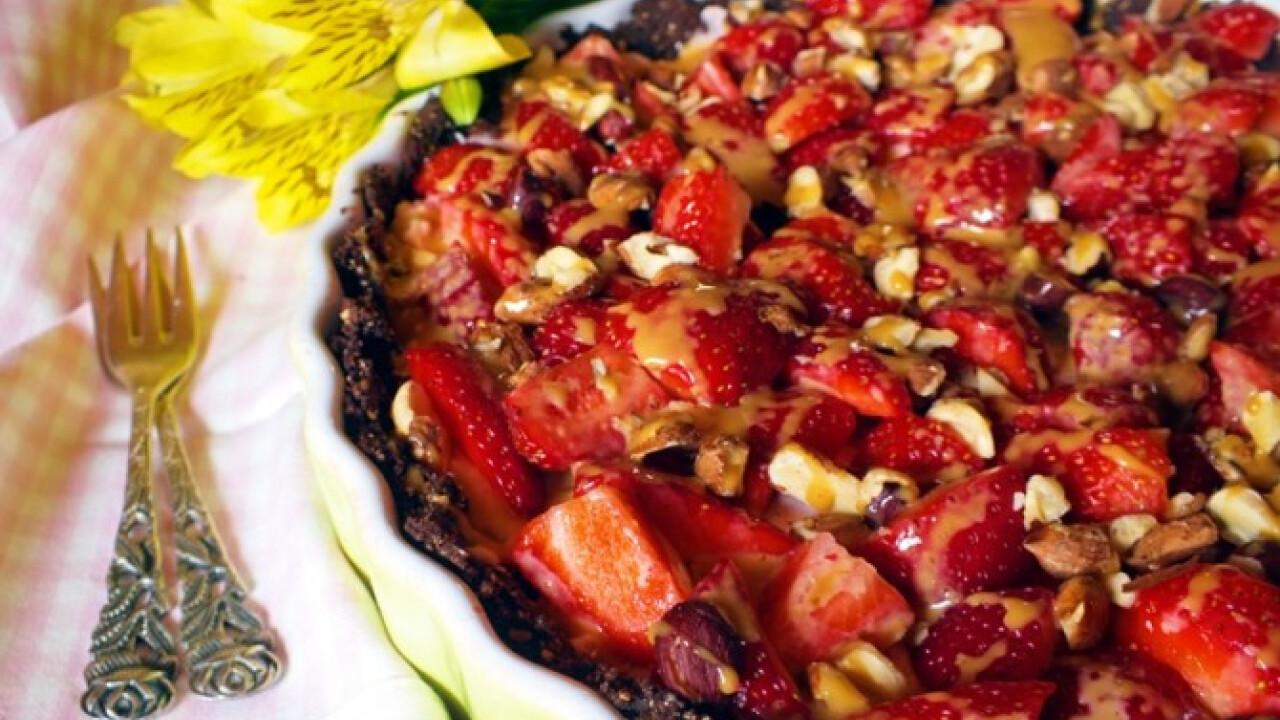 Epres-mogyorós-karamellás torta