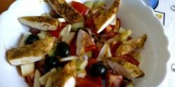Vendégváró csirkés saláta