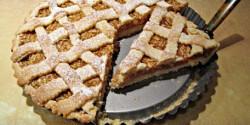 Almás pite vaníliapudinggal