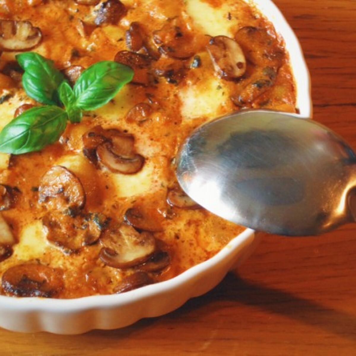 Ezen a képen: Sütőben sült gombás-sajtos gnocchi