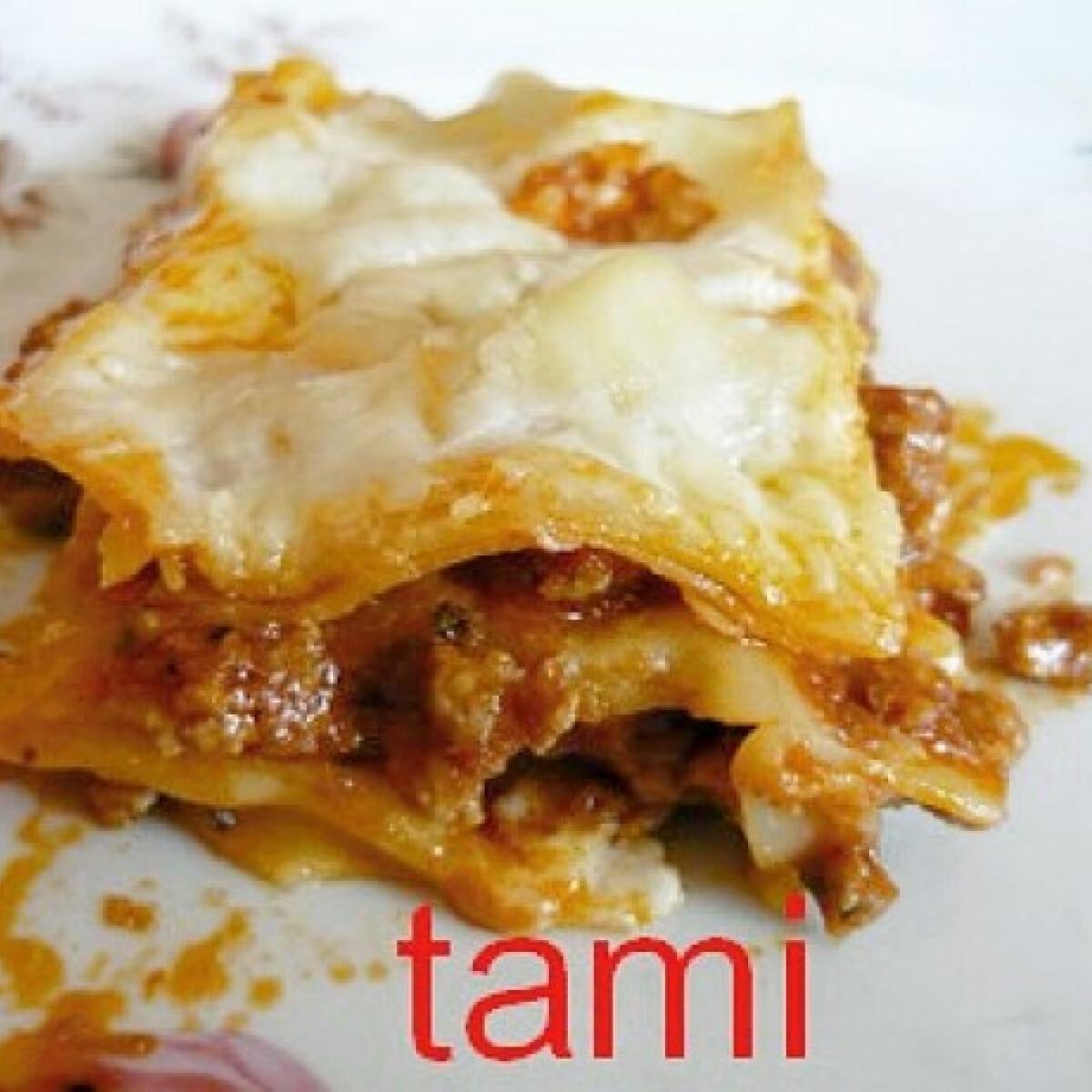 Ezen a képen: Lasagne ahogy Tami készíti
