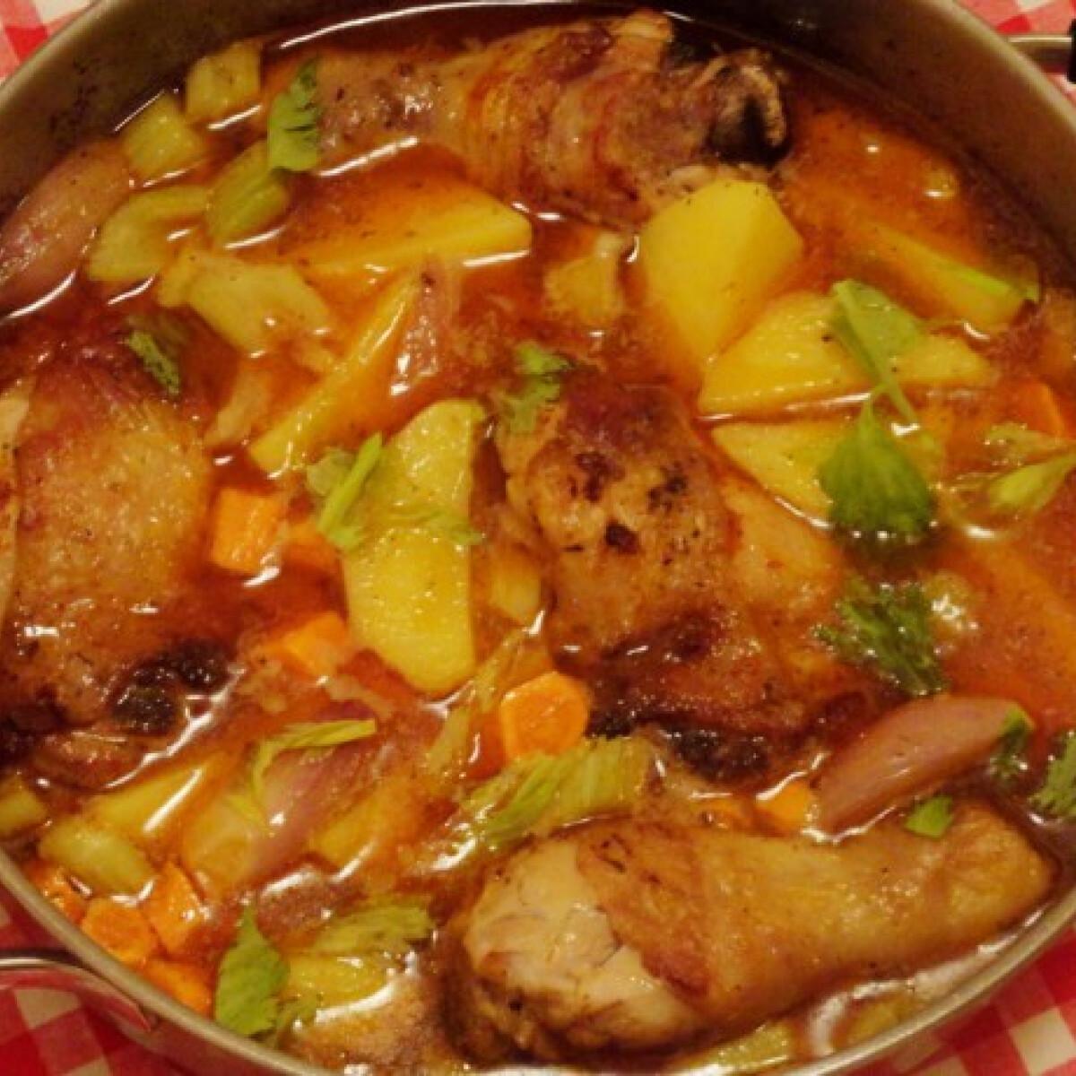 Rizlinges csirke egytálétel