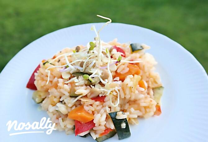 Ezen a képen: Csírás-zöldséges rizs