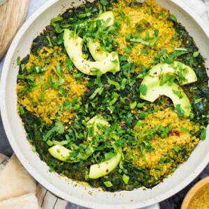 Zöld vegán shakshuka