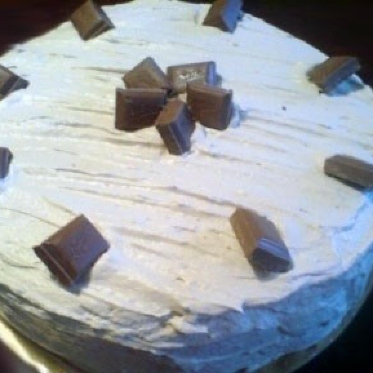 Almás-csokihabos torta