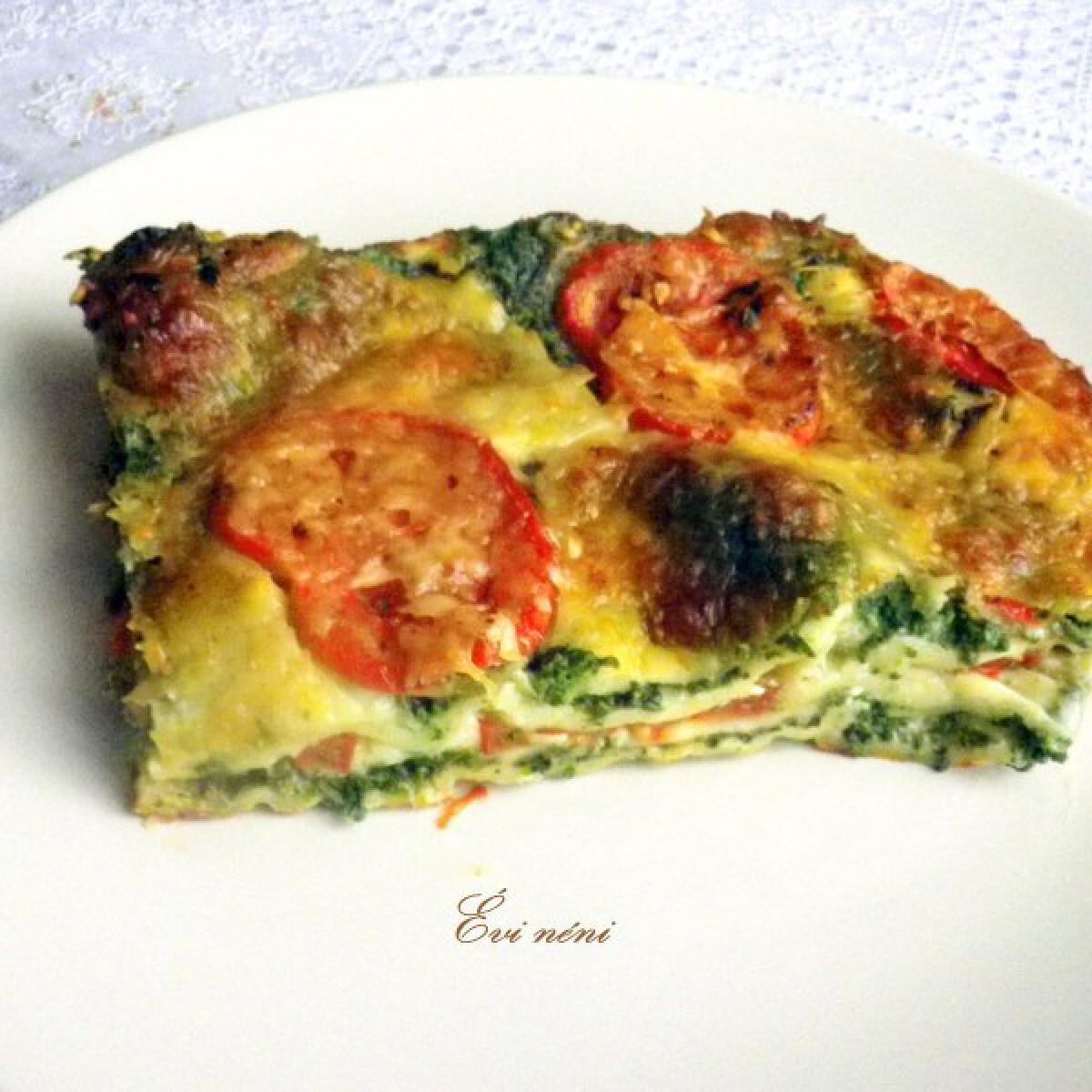 Ezen a képen: Spenótos mozzarellás lasagne