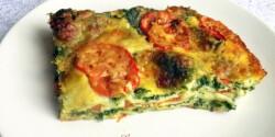Spenótos mozzarellás lasagne