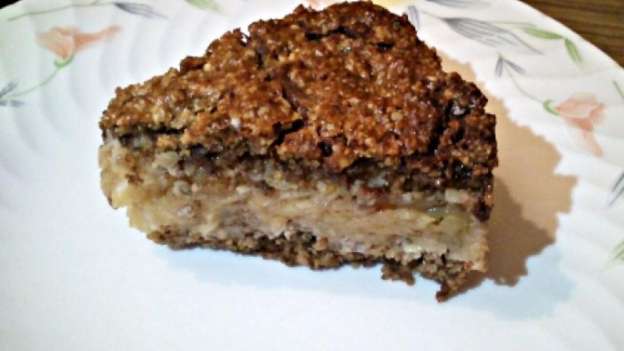 Zabos-almás sütemény csokitetővel