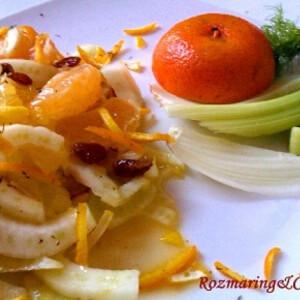 Szicíliai édesköményes citrussaláta