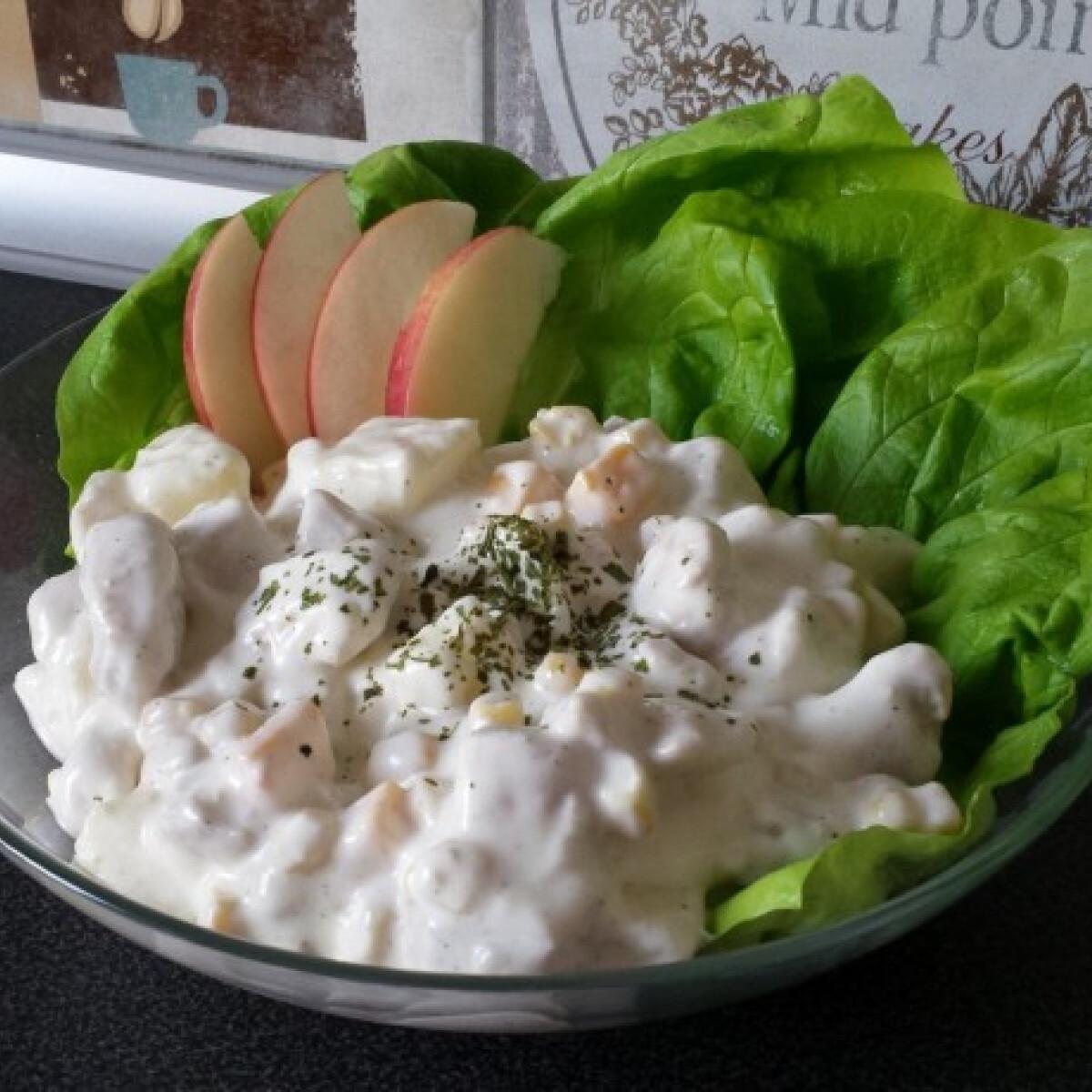 Ezen a képen: Insalata di pollo ahogy Alízke készíti