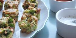 Sajtos brokkolifalatkák