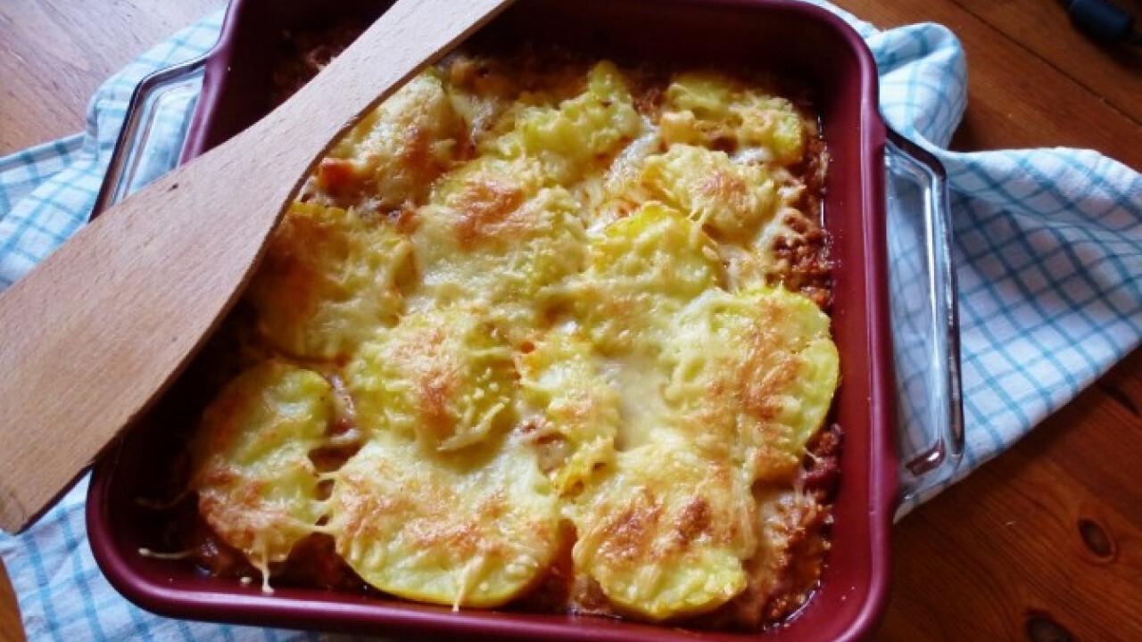 Bolognai burgonya gratin