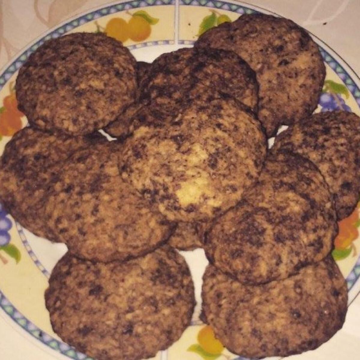 Ezen a képen: Kókuszos-zabpelyhes cookies egészségesen