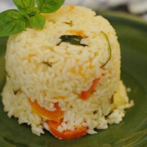 Zöldséges rizottó sütőtökkel