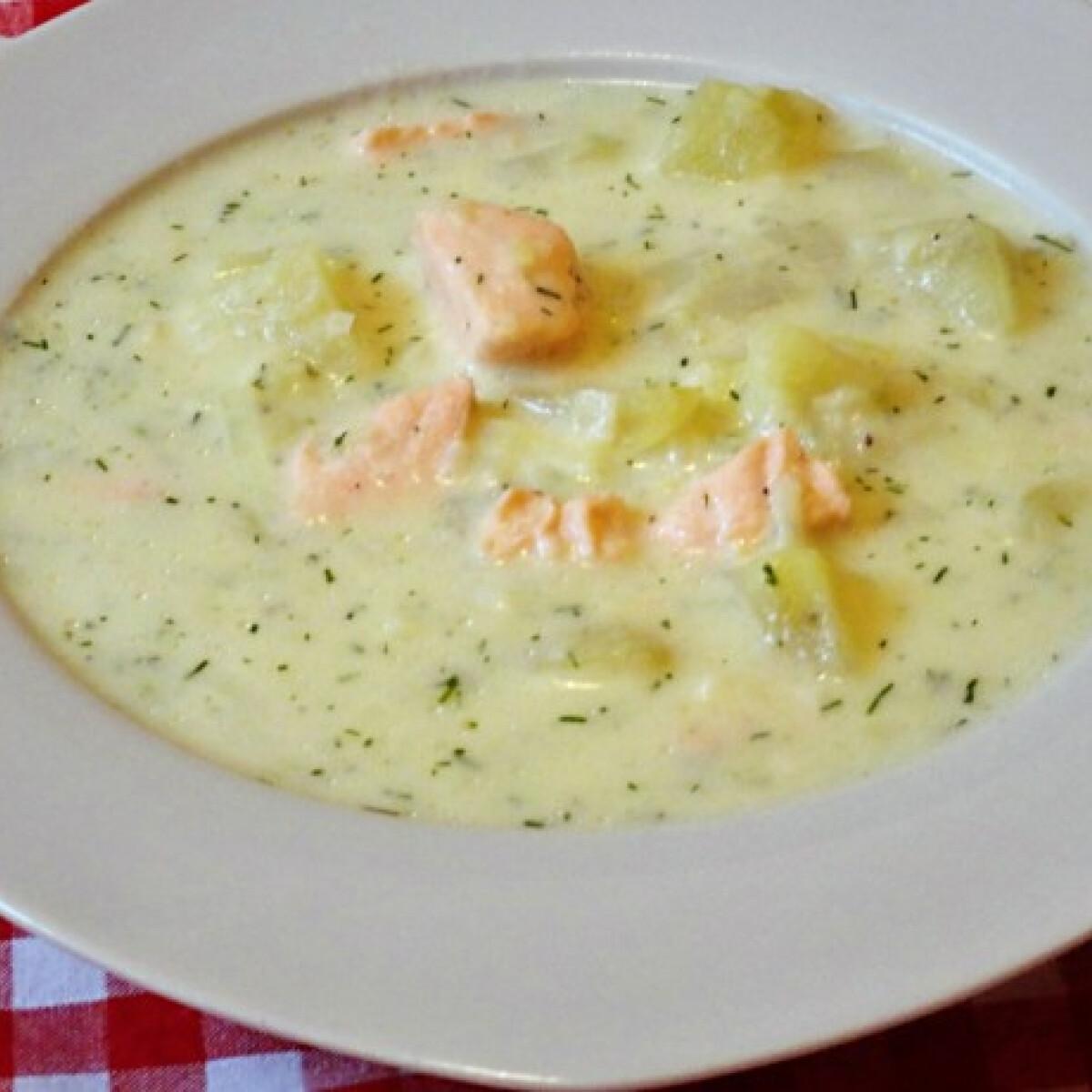 Ezen a képen: Svéd lazacos leves