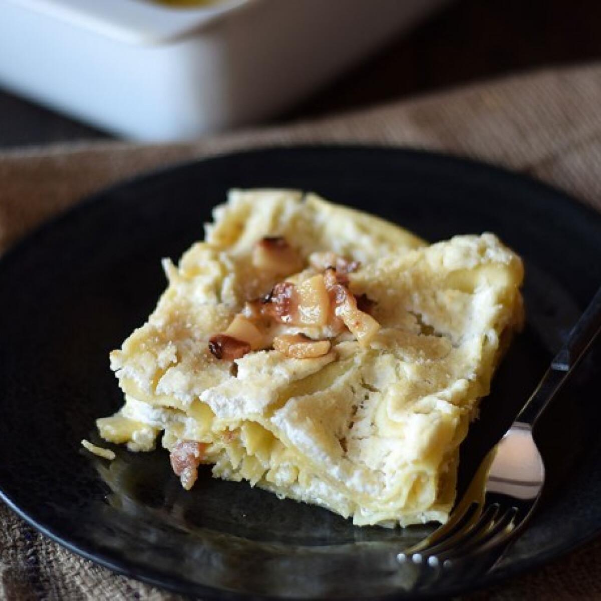 """Ezen a képen: Túrós tészta """"lasagne"""""""