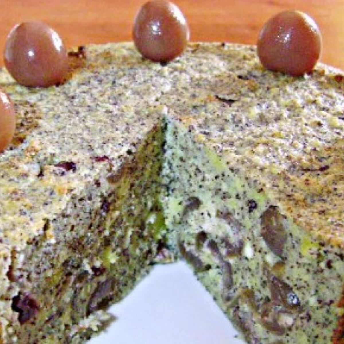 Sült mákos-túrógombóc torta