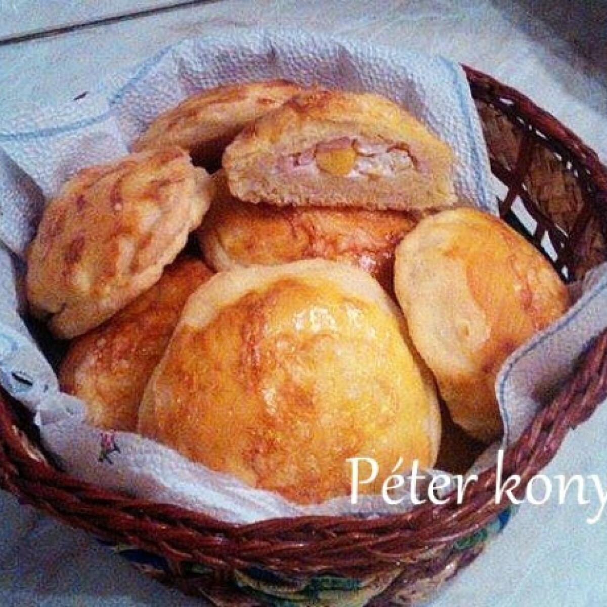 Ezen a képen: Töltött korongok Péter konyhájából
