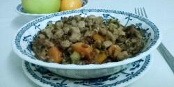 Vadrizs zöldségekkel és borjúval
