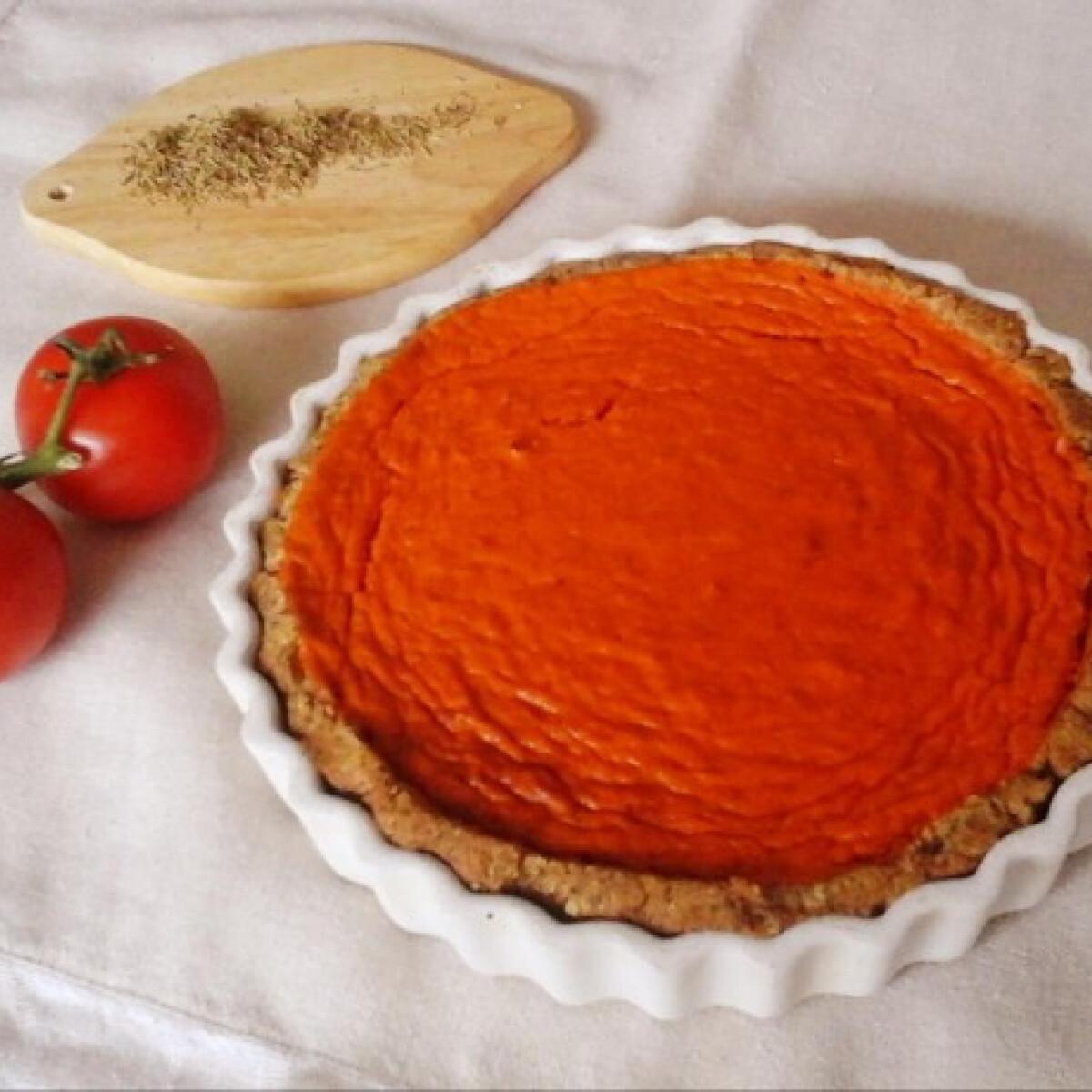 Paradicsomos-paprikás quiche quinoatésztában