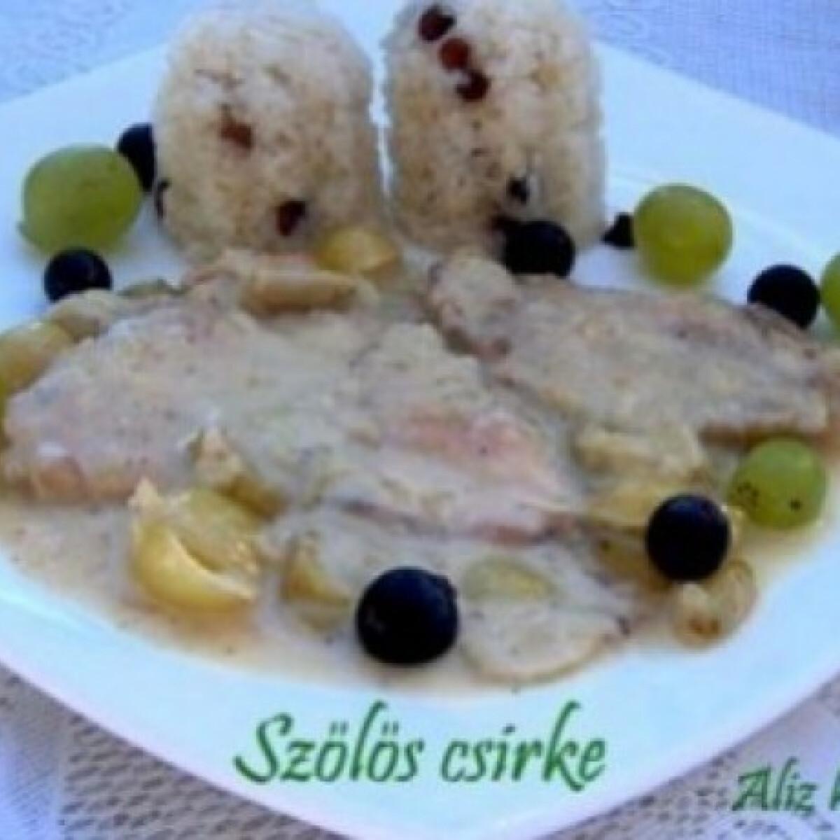 Ezen a képen: Szőlős csirke mazsolás rizzsel