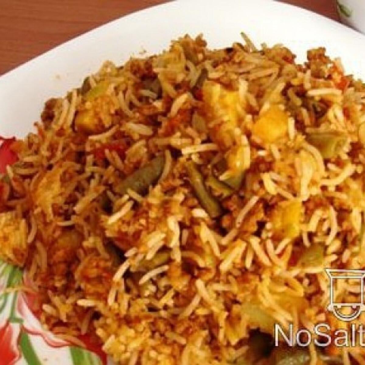 Zöldbabos-borjúhúsos rizs