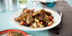 Bárányborda zöldségkörettel Philips Airfryerben készítve