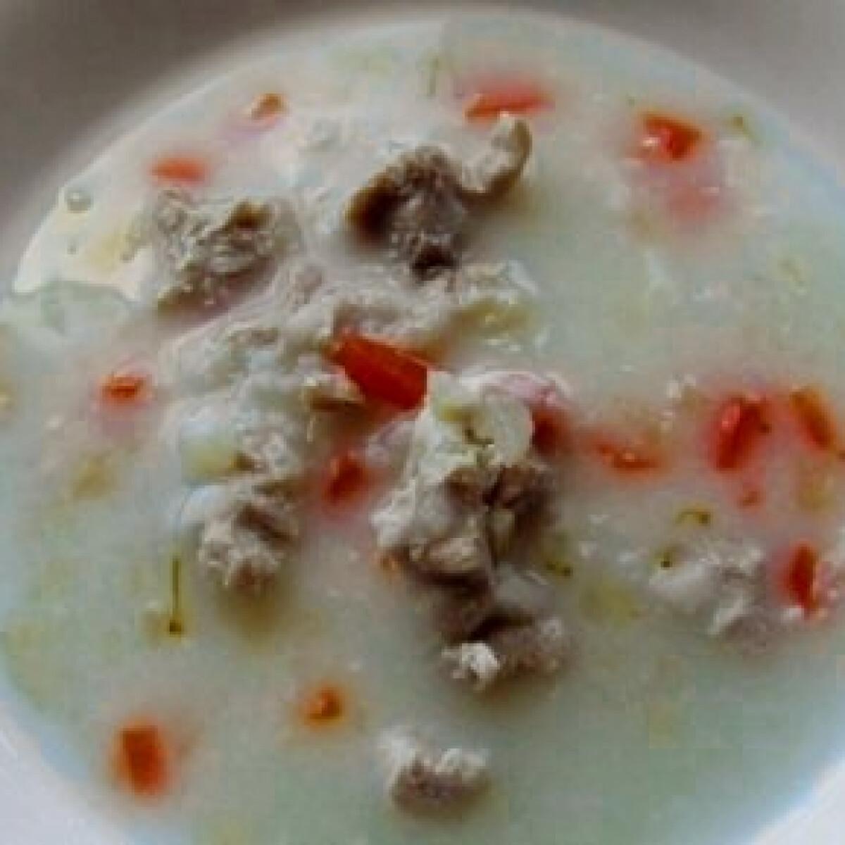 Ezen a képen: Rizskása leves csirkemell-falatkákkal