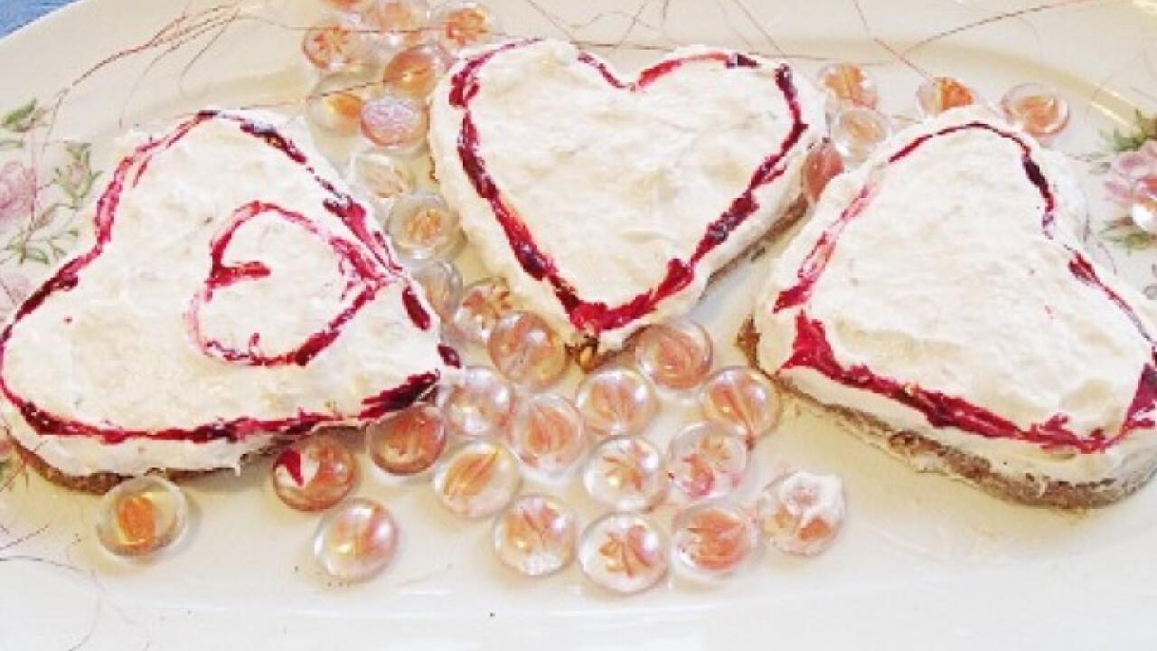Valentin napi krémes szívecske sütés nélkül