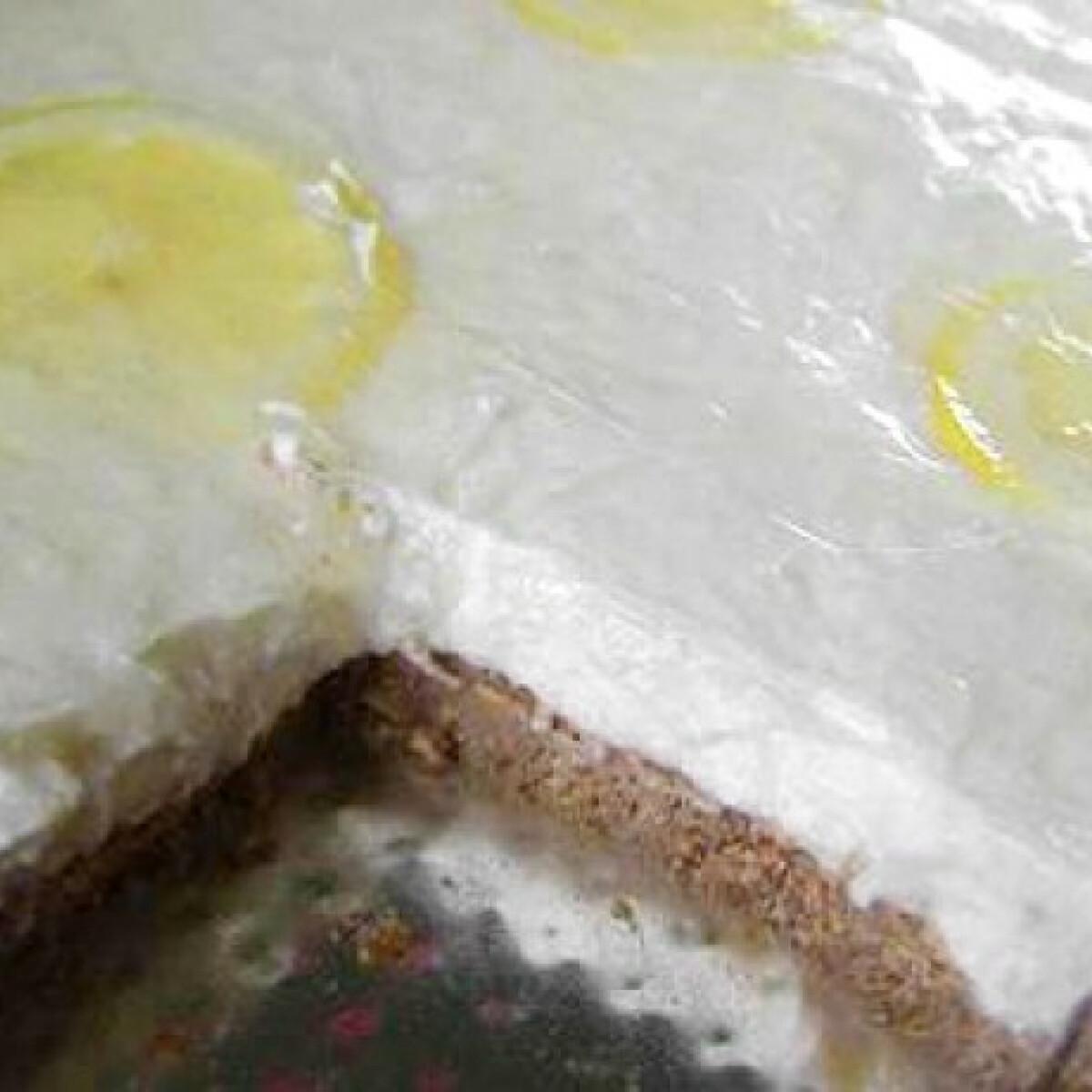 Citromjoghurtos túrótorta sütés nélkül