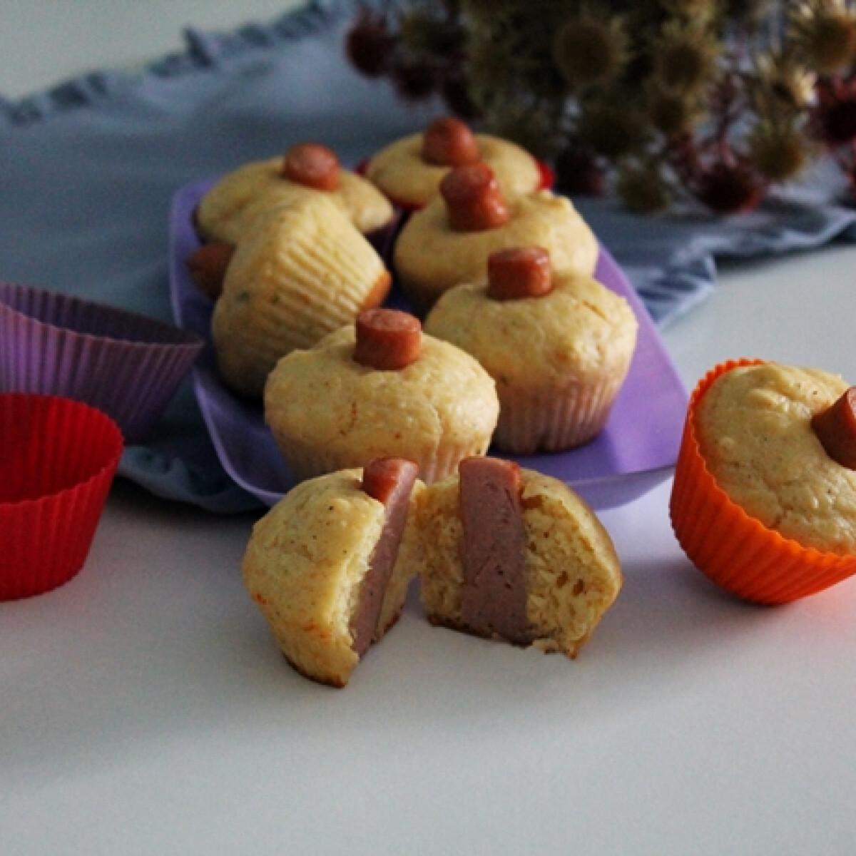 Ezen a képen: Virslis muffin